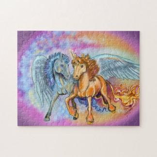 Puzzle Pegasus~puzzle de licorne de vent et de flamme
