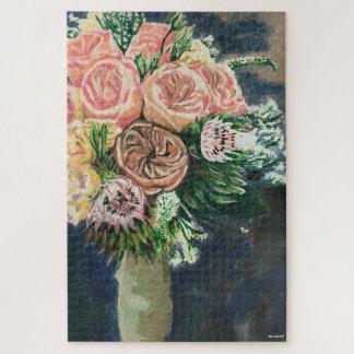 Puzzle peint à la main de bouquet floral