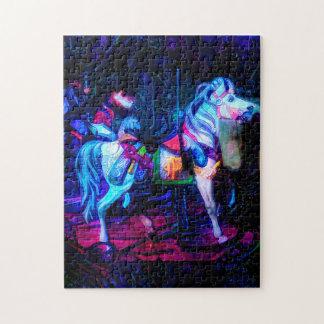 Puzzle peint de carrousel