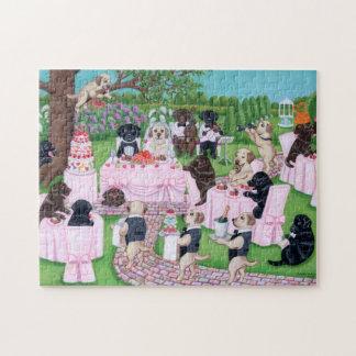 Puzzle Peinture de mariage de Labrador