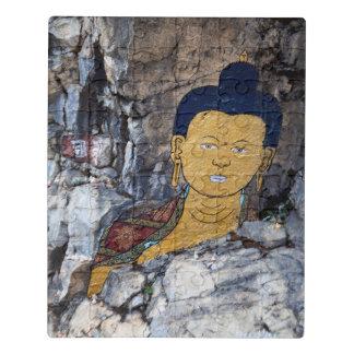 Puzzle Peinture de roche de Bouddha
