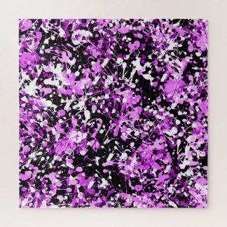 Puzzle Peinture d'éclaboussure dans l'orchidée