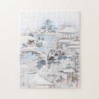 Puzzle Peinture japonaise des 47 samouraïs de combat de