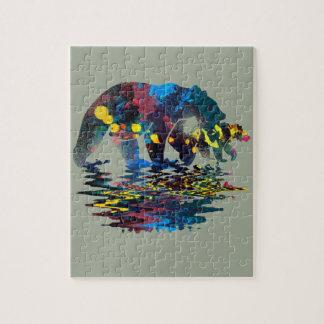 Puzzle Peinture polychrome d'ours