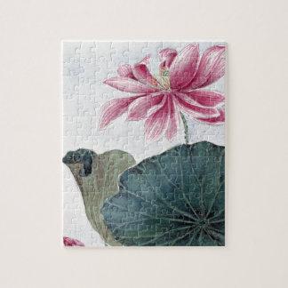 Puzzle Peinture pour aquarelle de Lotus