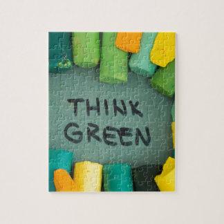 Puzzle Pensez le vert, concept d'écologie