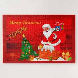 Puzzle Père Noël dans la cheminée
