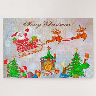 Puzzle Père Noël et renne
