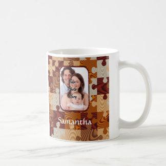 Puzzle personnalisé en bois de faux mug