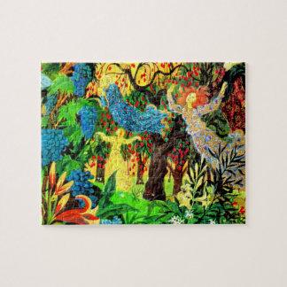 Puzzle personnes féeriques dans la forêt