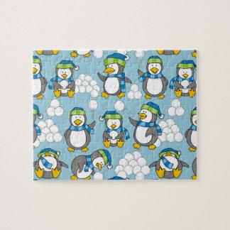 Puzzle Petit arrière - plan de pingouins
