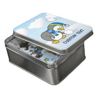 Puzzle Petit pingouin obtenant une boule de neige