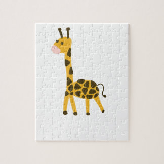 Puzzle Petite conception jaune mignonne de girafe