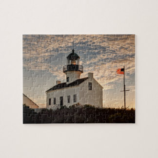 Puzzle Phare au coucher du soleil, la Californie