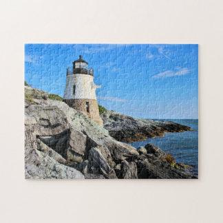 Puzzle Phare de colline de château, Île de Rhode