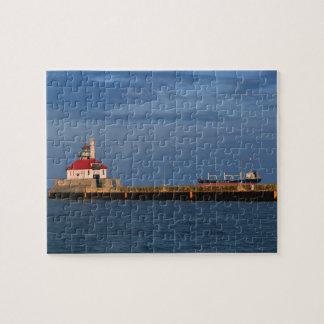 Puzzle Phare et bateau