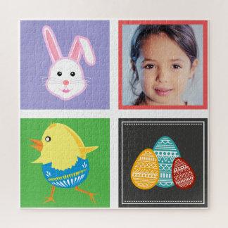 Puzzle Photo mignonne colorée de coutume de lapins et
