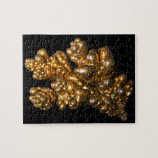 Puzzle Photo minérale de cuivre dendritique sur l'arrière