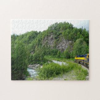 Puzzle Photographie exprès de vacances de train de Denali