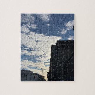 Puzzle Photographie nuageuse NYC de New York City de ciel