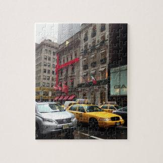 Puzzle Photographie NYC de taxi de Cinquième Avenue de