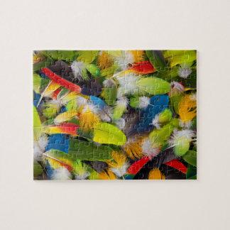 Puzzle Pile des plumes colorées