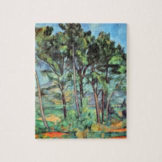 Puzzle Pin avec le viaduc par Paul Cezanne, art vintage