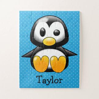 Puzzle Pingouin drôle mignon fait sur commande de bande