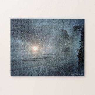 Puzzle pittoresque d'illustration de vue de plage