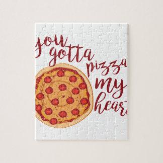 Puzzle Pizza mon coeur