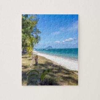 Puzzle plage publique de la négligence d'en Flac Îles