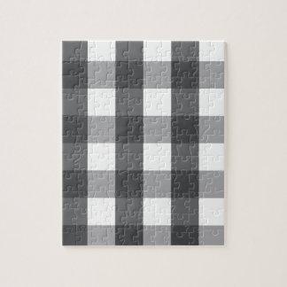 Puzzle Plaid noir et blanc