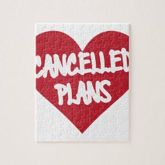 Puzzle Plans décommandés