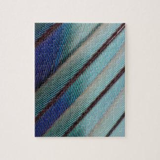 Puzzle Plume lilas bleue de rouleau de Breasted