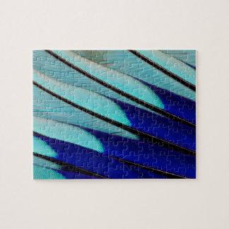 Puzzle plumes Bleu-gonflées de rouleau