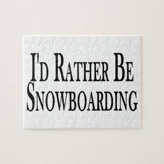 Puzzle Plutôt fasse du surf des neiges