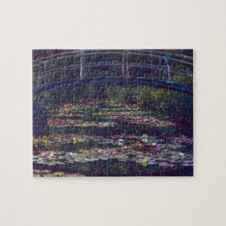 Puzzle Pont au-dessus d'étang de nénuphar par Claude
