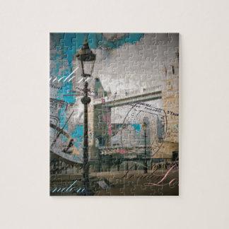 Puzzle pont de tour de la Tamise Londres de lampadaire du