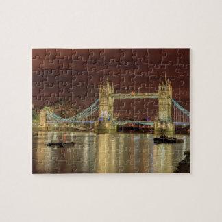 Puzzle Pont de tour la nuit, Londres