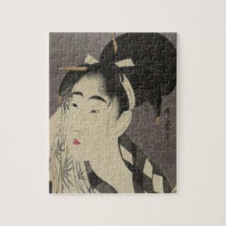 Puzzle Portrait de Madame japonaise