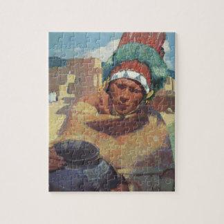 Puzzle Portrait indien indigène de Taos, Blumenschein