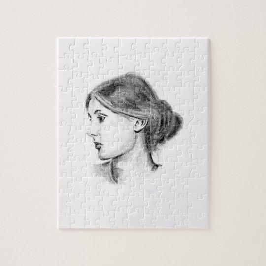 Puzzle Portrait mou de crayon de la Virginie Woolf