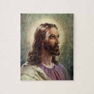 Puzzle Portrait religieux vintage, Jésus-Christ avec le