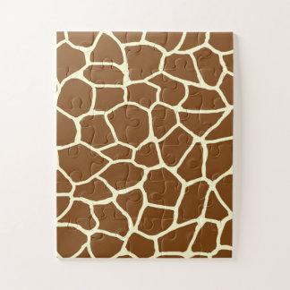 Puzzle Poster de animal sauvage de motif de girafe