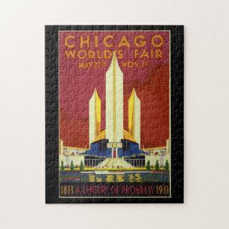 Puzzle Poster vintage 1933 d'Exposition universelle de