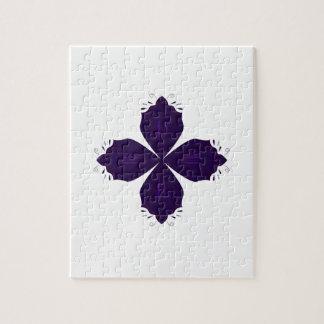 Puzzle Pourpre de Lotus sur le blanc