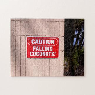 Puzzle Précaution - noix de coco en baisse !