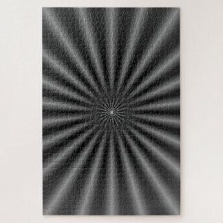 Puzzle Rayons en noir et blanc