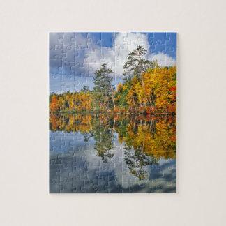 Puzzle Réflexions d'étang d'automne, Maine
