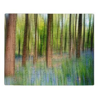 Puzzle Région boisée BRITANNIQUE de chêne de jacinthe des